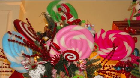 Bombones dulces de decoración, navidad Candy