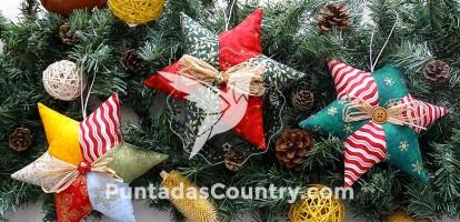 estrellas navideñas patchwork en diferentes colores