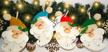 Manualidad de Colgantes Santa