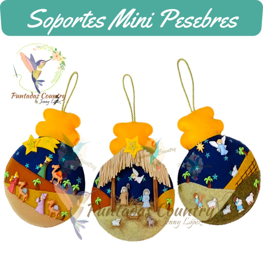 Puntadas Country - Soportes Mini Pesebres